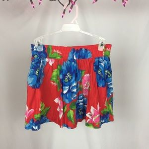 Hollister Red Floral Skirt